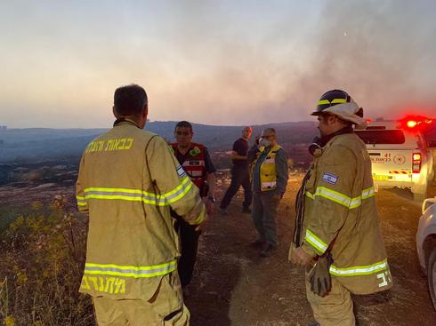 שריפה באזור התעשייה נחשונים