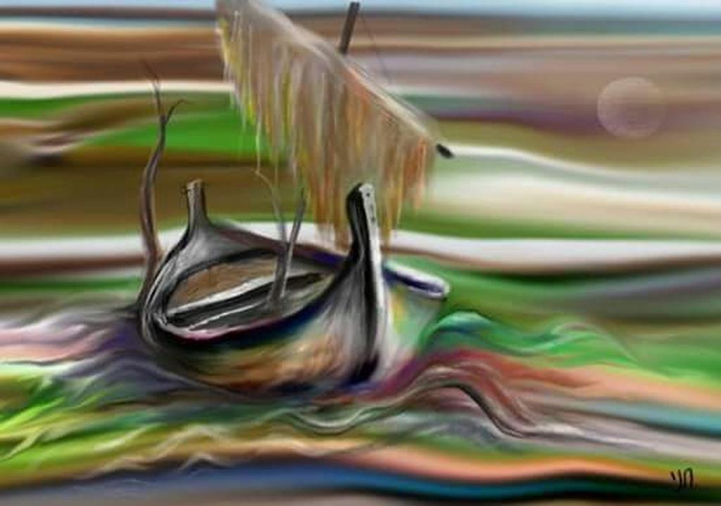 אחד הציורים של חני חדד. צילום: פרטי