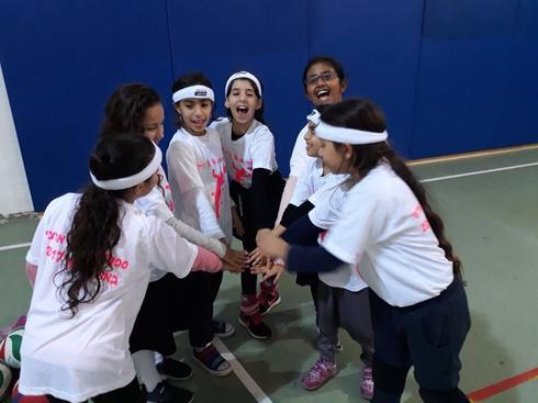 ילדי הכדורשת של ראש העין. צילום: עמותת הספורט העירונית