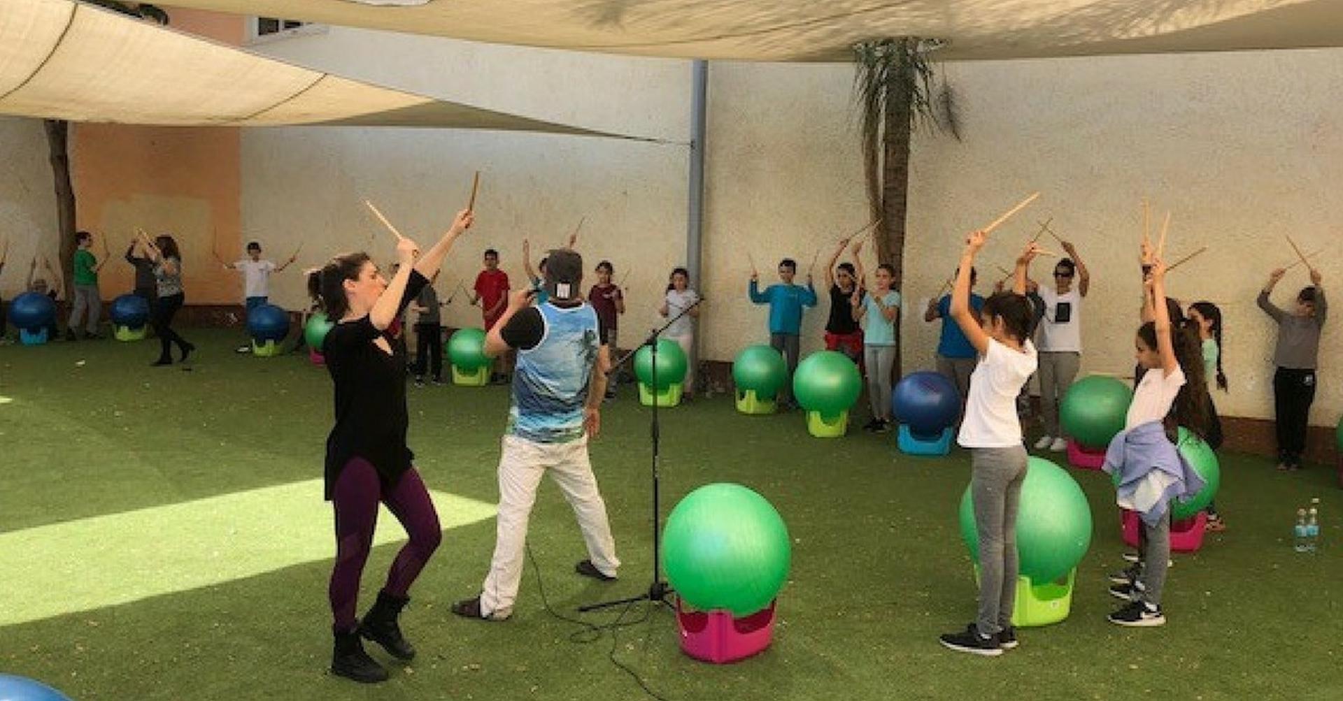 """שבוע חינוך גופני בבי""""ס טל. צילום: באדיבות העירייה"""