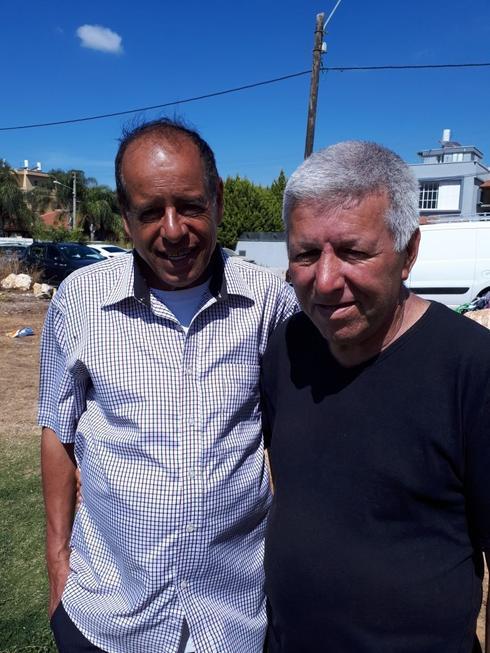 אלי מדר, ששפט במשך 30 שנה בליגה ודוד שלמה, שניהל קבוצות רבות. צילום: אבישי גמליאל