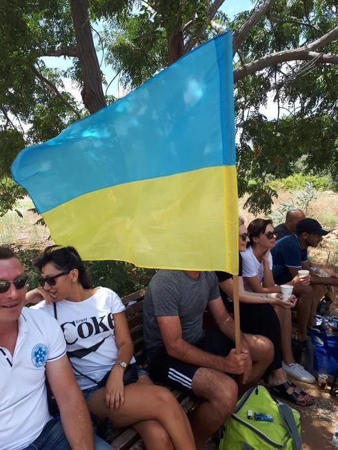 """אוהדי קבוצת """"אוקראינה"""" מסיימים עונת גביע נהדרת. צילום: אבישי גמליאל"""