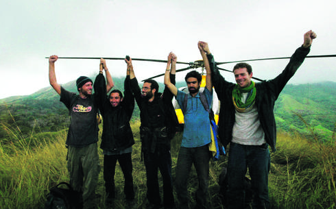 רגע לאחר השחרור: הנדרסון הבריטי, דניאל, אלטויל, אוחיון וגיא | צילום: אי.פי.