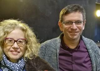 אריה ימיני וחוה אלברשטיין. צילום: באדיבות ימיני