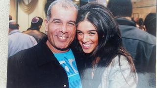 גדעון והב עם בתו. צילום: יוסי דמארי