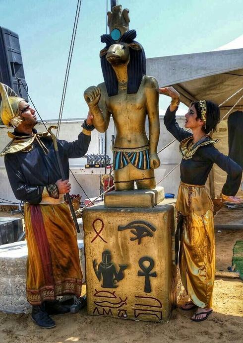 פסח במתחם המוזאונים בבאר שבע - הפנינג בסימן מצרים העתיקה. צילום באדיבות להבות