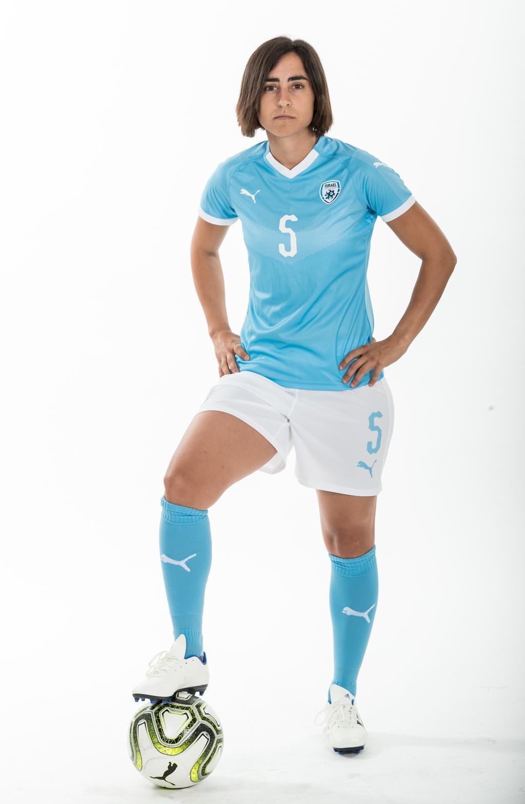 שי שדה, קפטנית נבחרת ישראל בכדורגל. צילום: ההתאחדות לכדורגל