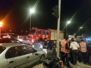 זירת התאונה בכביש 471 | צילום: איחוד הצלה פתח תקוה